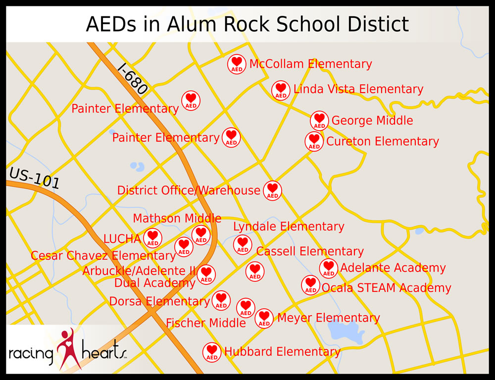 Alum Rock Map
