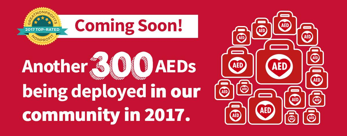 Another 300 AEDs coming!